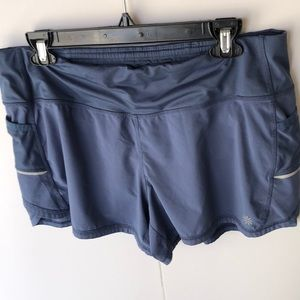 Athleta light blue running Shorts